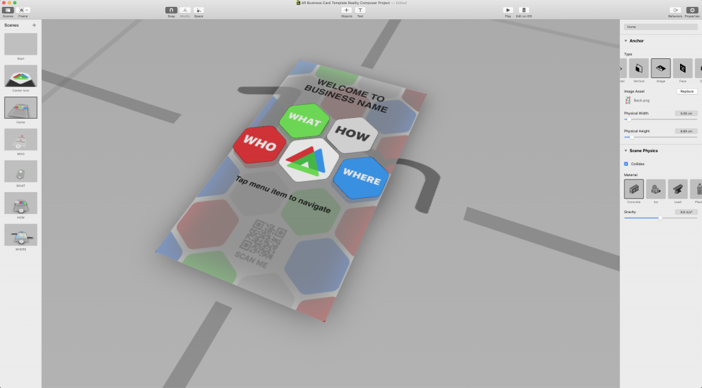 how to create an interactive ar business card in 3 hours